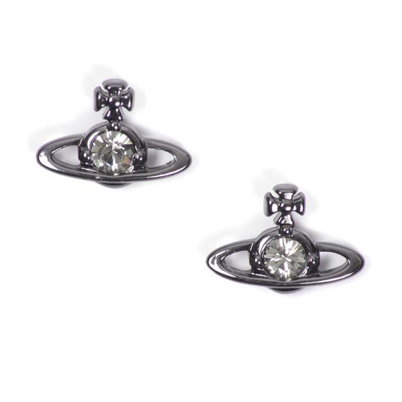 Vivienne Westwood Womens Black Nano Solitaire Earrings main image