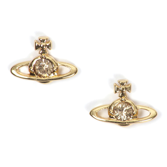 Vivienne Westwood Womens Gold Nano Solitaire Earrings main image