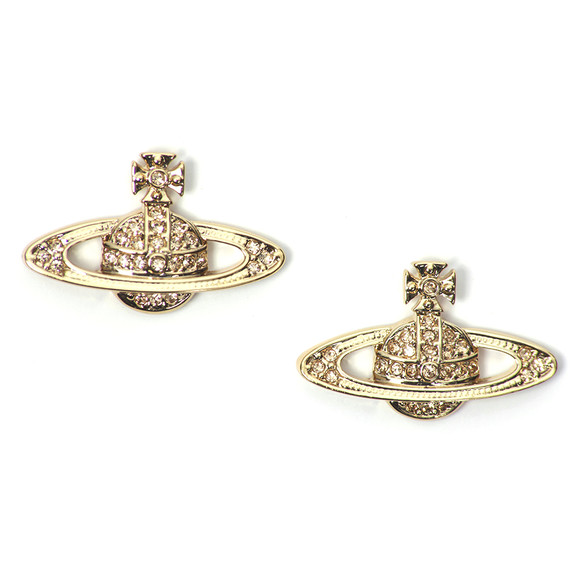 Vivienne Westwood Womens Gold Mini Bas Relief Earring main image