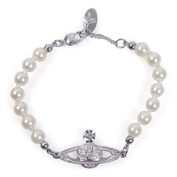 Vivienne Westwood Womens Silver Mini Bas Relief Pearl Bracelet main image
