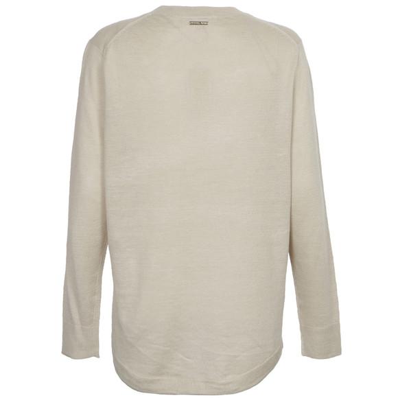 Michael Kors Womens Beige Crew Hilo Hem Sweater main image
