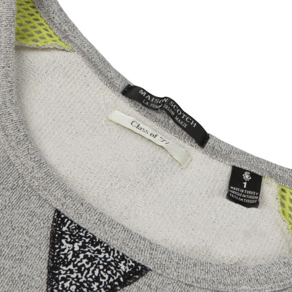 Maison Scotch Womens Green Baseball Inspired Sweater main image