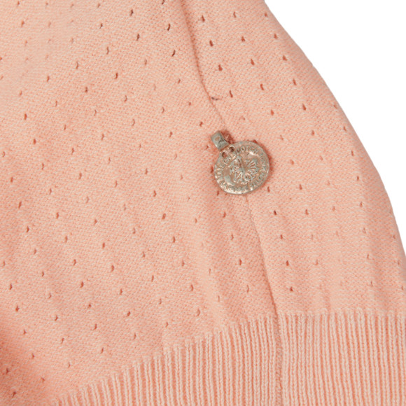 Maison Scotch Womens Pink Baseball Inspired Knitted Top main image
