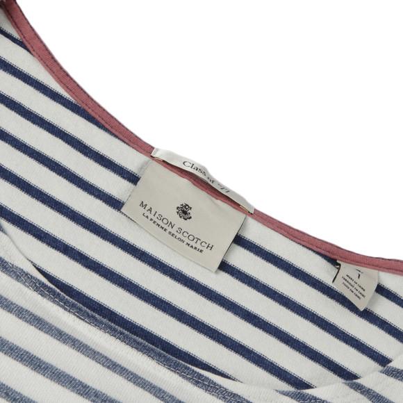 Maison Scotch Womens Blue Breton Stripe Top main image