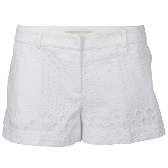 Michael Kors Womens White Eyelet Mini Short main image