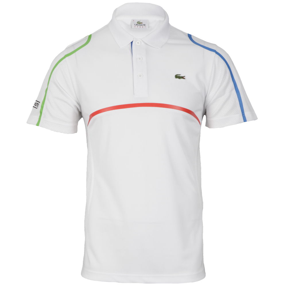 lacoste sport blanc nattier polo shirt dh7671 masdings. Black Bedroom Furniture Sets. Home Design Ideas