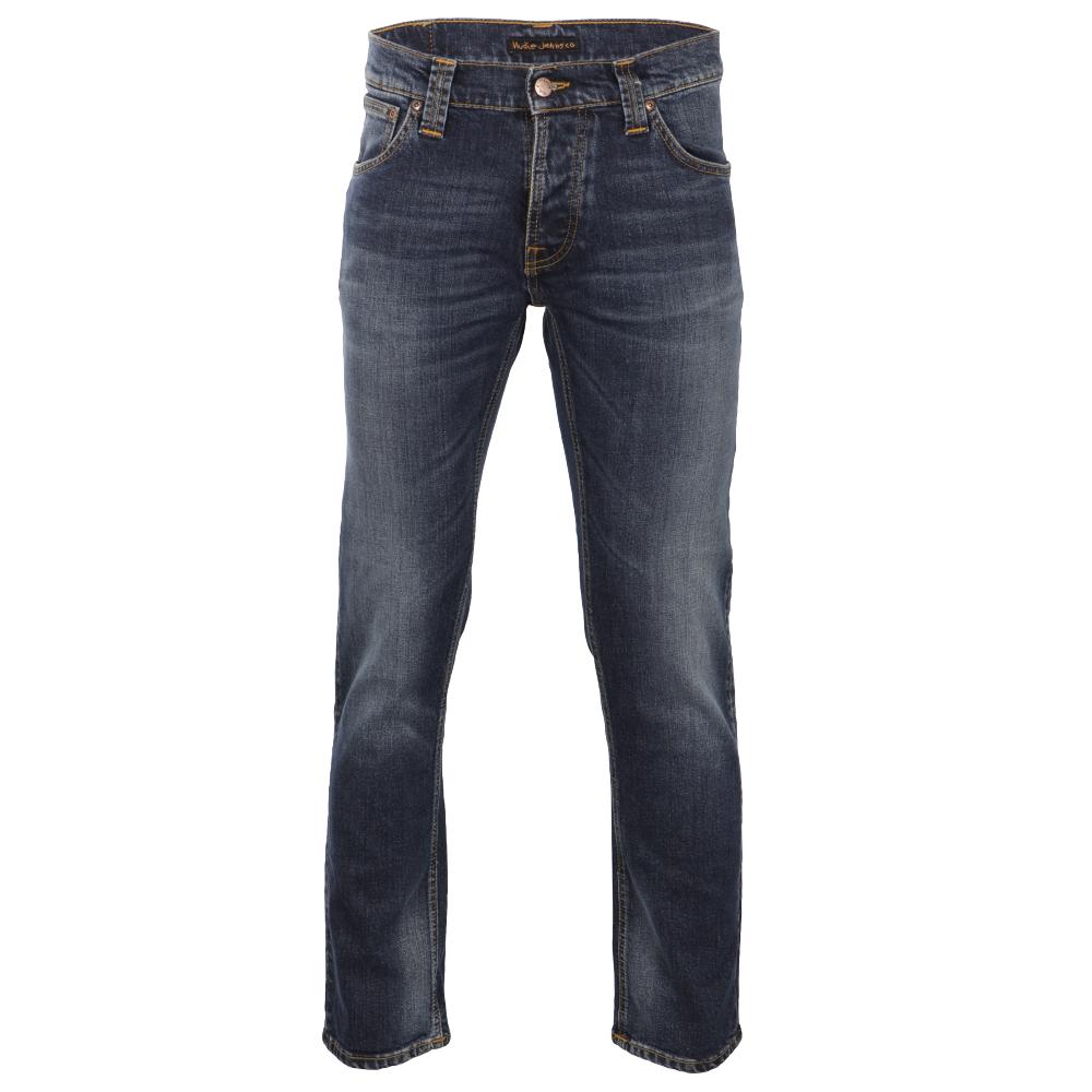 Nudie Grim Tim Twisted Blue Jeans