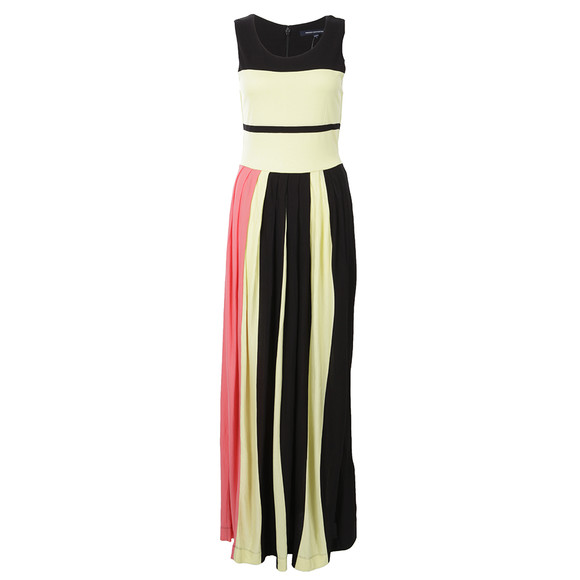 French Connection Womens Black Medina Stripe Sleeveless Dress main image