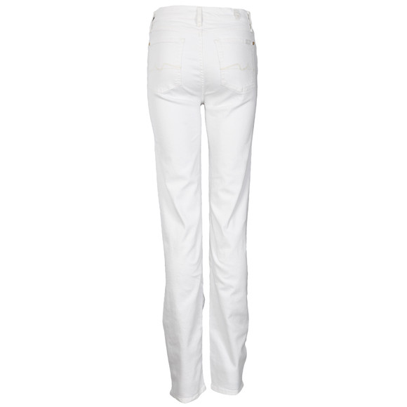 7 For All Mankind Womens White High Waist Straight Leg Jean main image