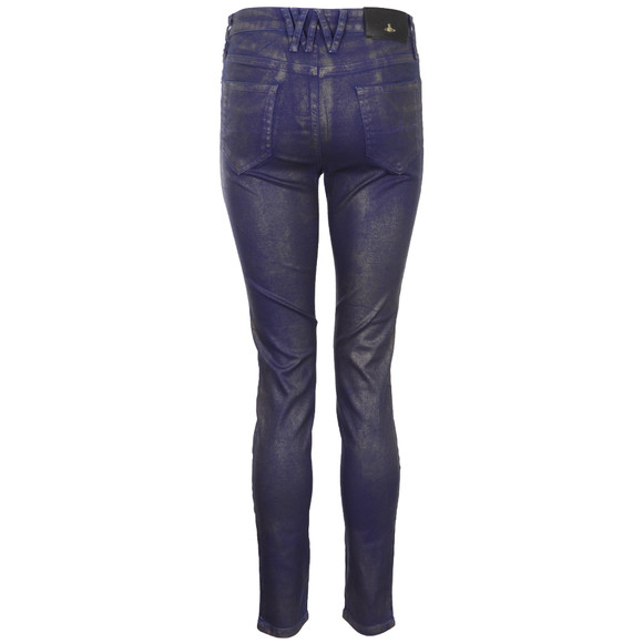 Vivienne Westwood Anglomania Womens Blue Monroe Jeggings main image
