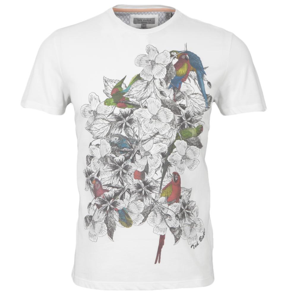 Ted baker floral parrot print t shirt oxygen clothing for Ted baker floral print shirt