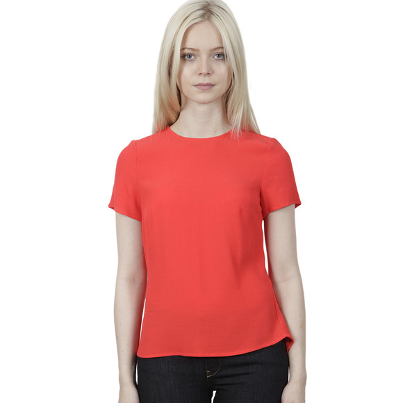 Michael Kors Womens Pink Peplum Back T Shirt main image