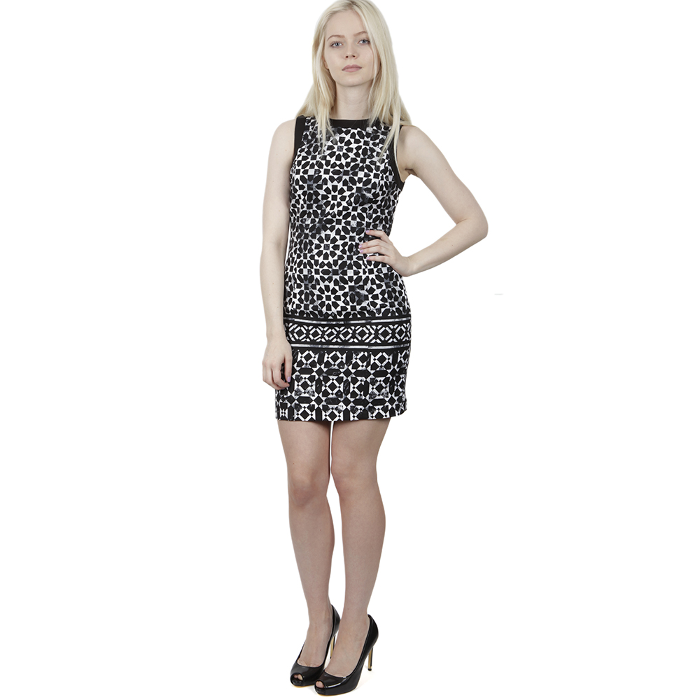 Sleeveless Mosaic Border Dress main image