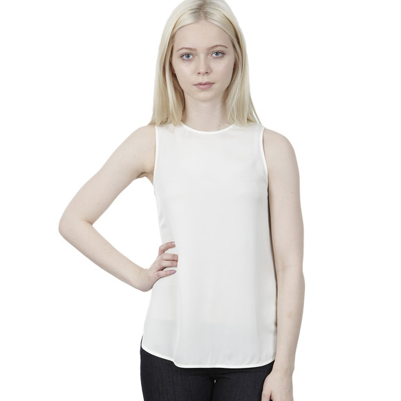 Michael Kors Womens Off-white Sleeveless Tank Top main image