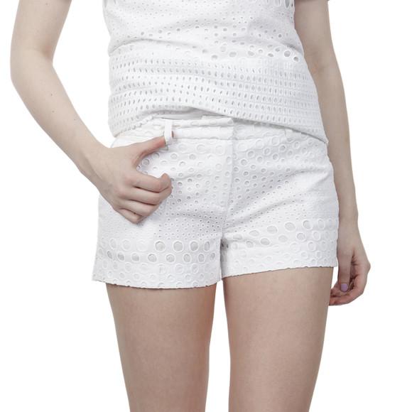 Michael Kors Womens White Eyelet Mini Short main image