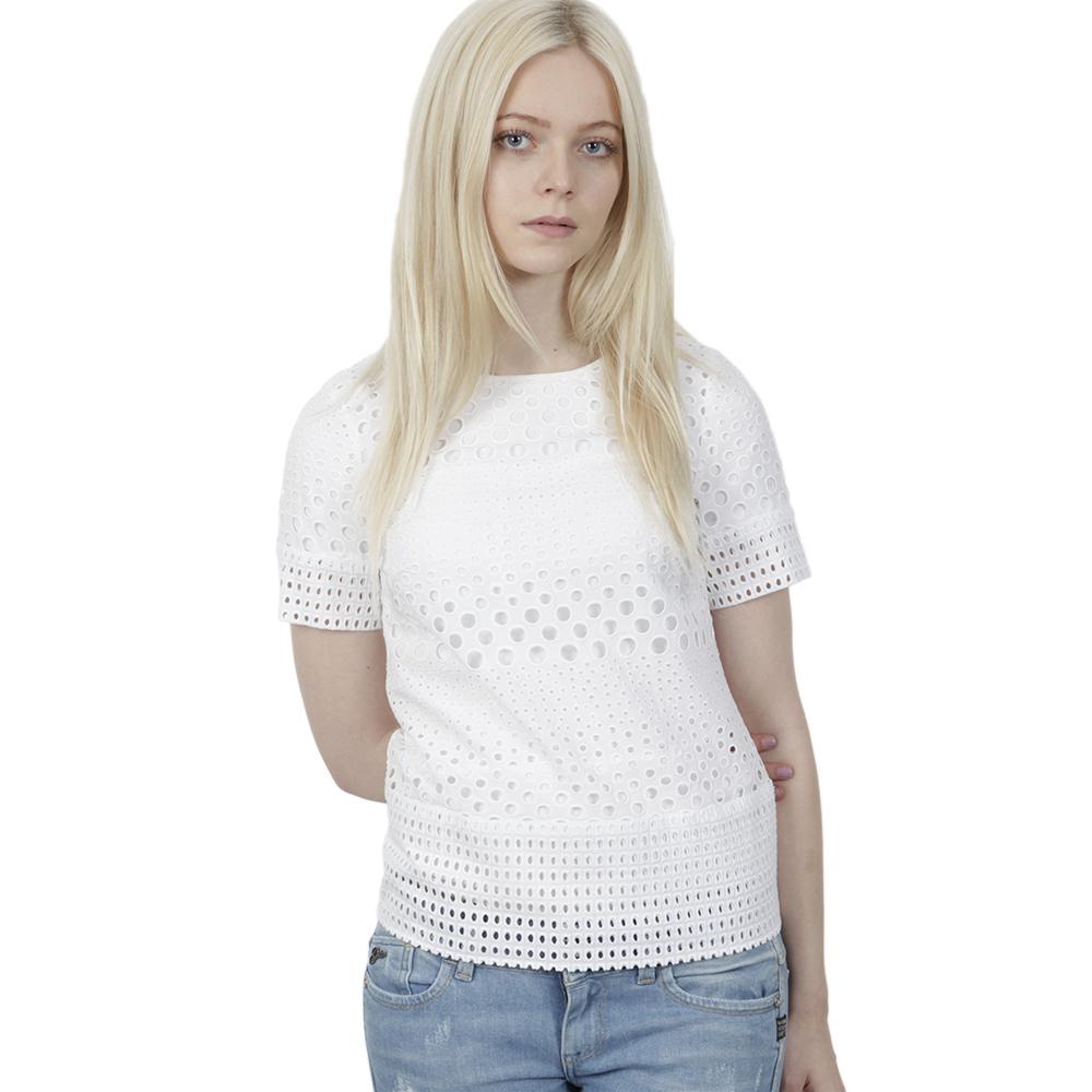 Eyelet Structured T Shirt main image