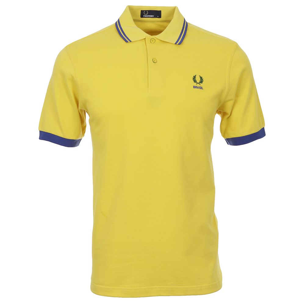 Fred Perry Brasil Yellow Polo Shirt
