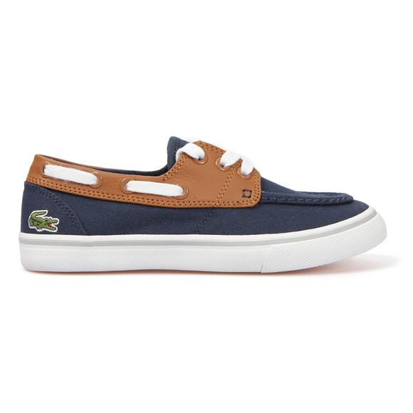 lacoste keel psa blue canvas boat shoe oxygen clothing