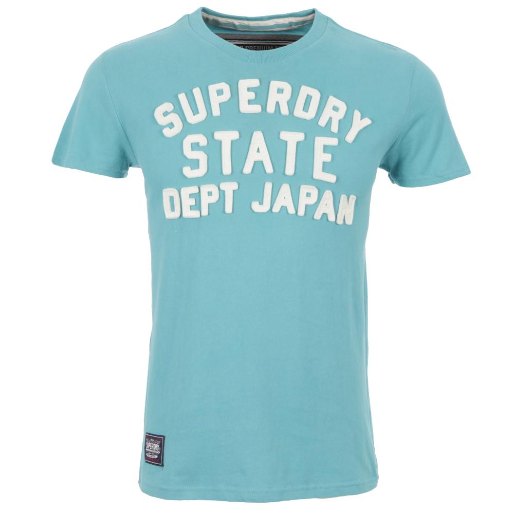 Superdry Premium Applique Turquoise Crew TShirt