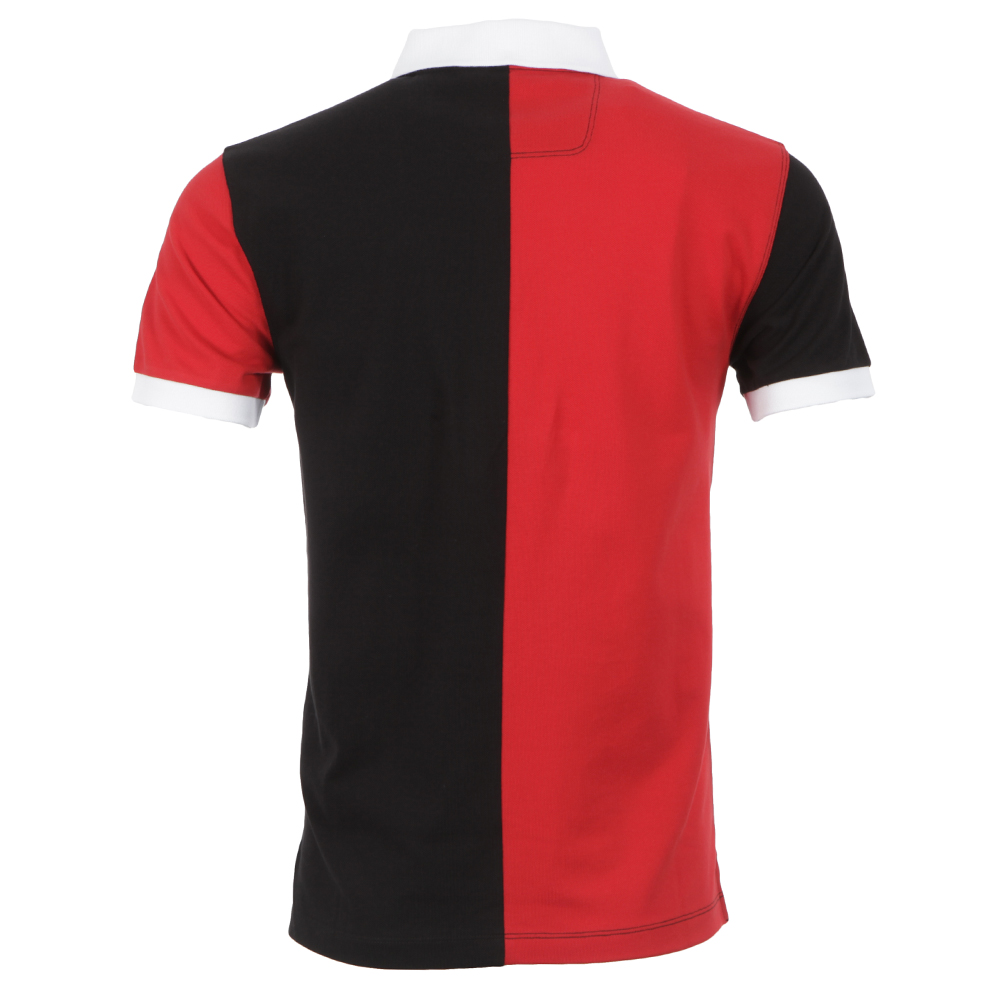 Hackett AMR Red/Black Half Split Polo Shirt | Oxygen Clothing