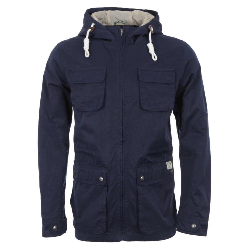 Jack & Jones Dress Blue Ziv Hooded Jacket