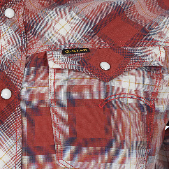 star mens red g star arc 3d olson oil red check shirt main image. Black Bedroom Furniture Sets. Home Design Ideas