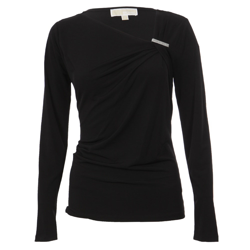 Asymmetric Neck Logo Trim Top main image