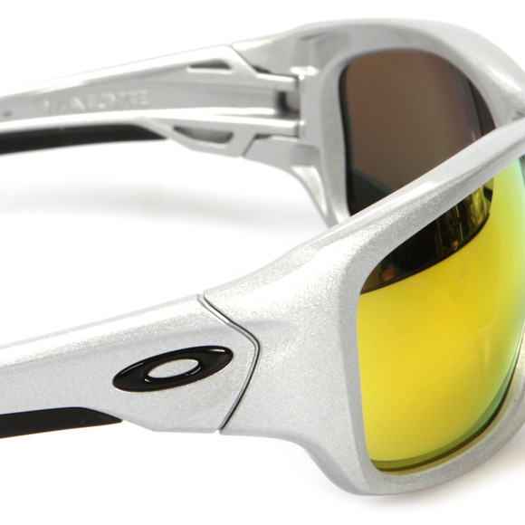 Oakley Mens Silver Oakley Valve Silver/Fire Iridium Polarized Sunglasses main image