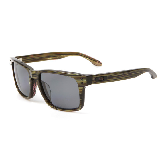 Oakley Mens Green Oakley Holbrook LX Branded Green/Grey Sunglasses main image
