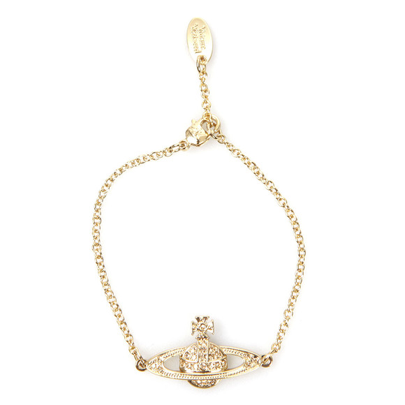 Vivienne Westwood Womens Gold Mini Bas Relief Chain Bracelet main image