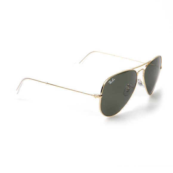 Ray Ban Mens Gold ORB3025 Aviator Large Sunglasses main image