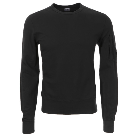 CP Company Mens Black Viewfinder Sleeve Crew Sweat main image
