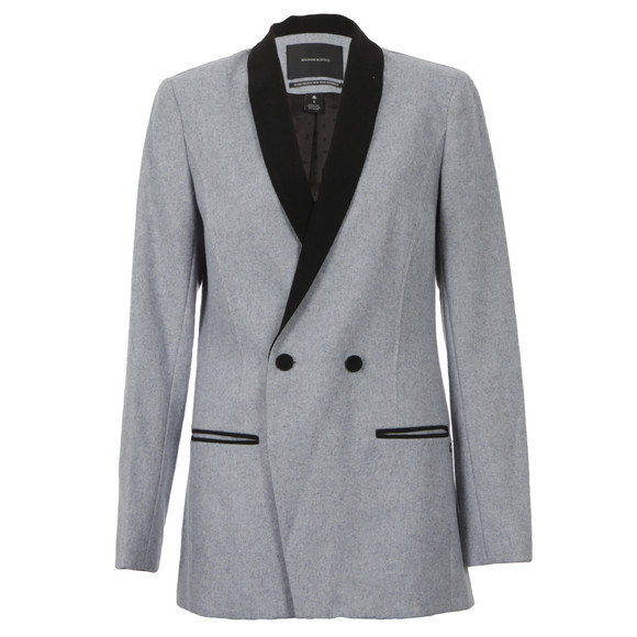 Maison Scotch Womens Blue Longer Length Tuxedo Blazer main image