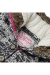 Superdry Womens Grey Hipster Fur Cardi