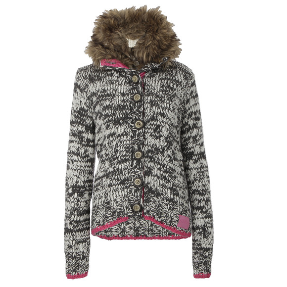 Superdry Womens Grey Hipster Fur Cardi main image