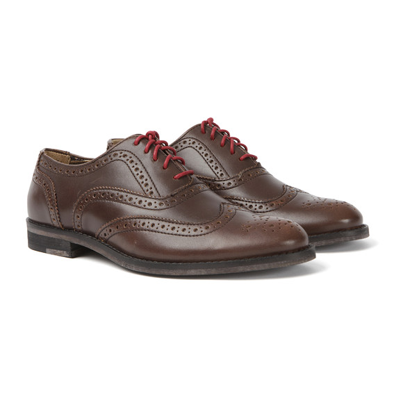 J Shoes Womens Brown Charlie Brogue Shoes main image