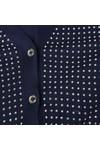 Michael Kors Womens Blue Stud Uneven Hem Cardigan