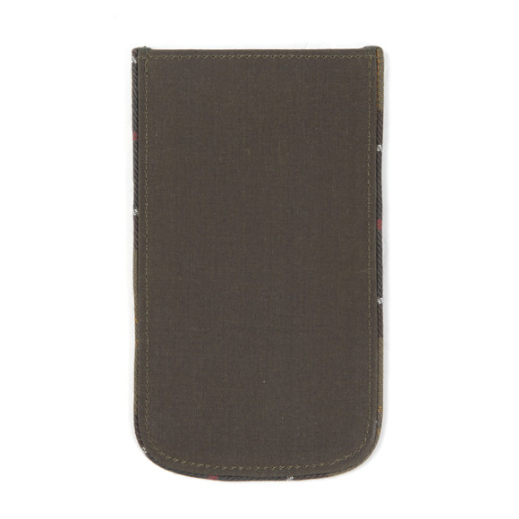 Barbour Lifestyle Unisex Green 120YRS Waxed Cotton IPhone 5 Pouch main image