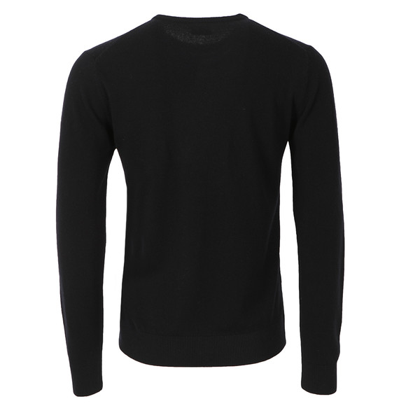 Lacoste Mens Black New Wool AH2995 Crew Neck Jumper main image