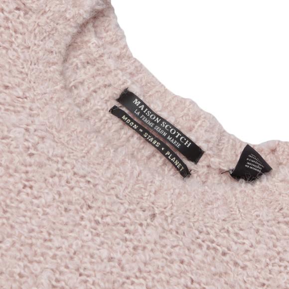 Maison Scotch Womens Bronze Boucle Knit In Beautiful Colour main image