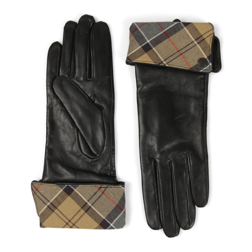 Barbour Heritage Lady Jane Leather Glove has tartan printed turnback detail with a small Barbour branded button. Wear the gloves with your chosen Barbour for the ultimate country look.