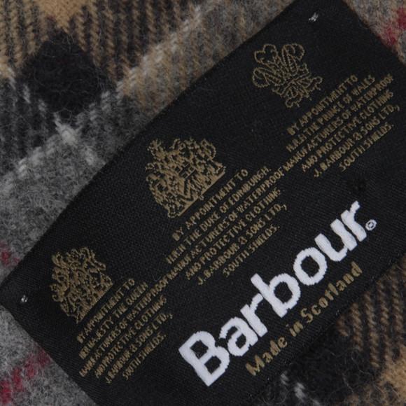 Barbour Lifestyle Mens Beige Dress Tartan Lambswool Scarf main image