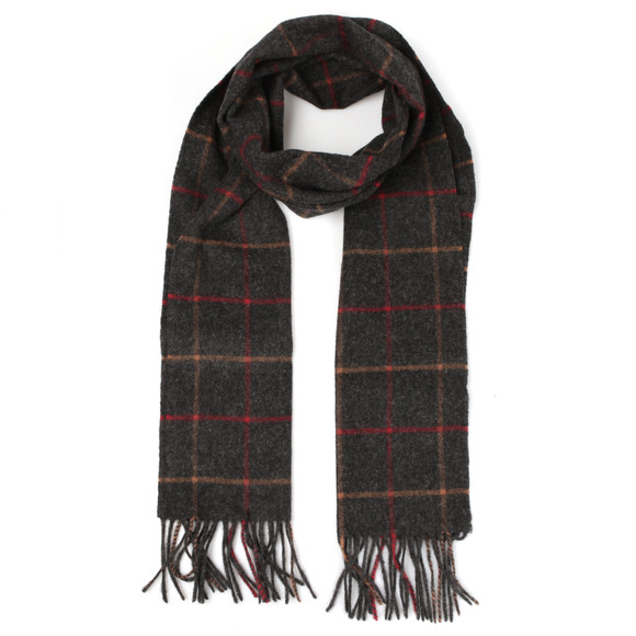 Barbour Lifestyle Mens Grey Tattersall Lambswool Scarf main image
