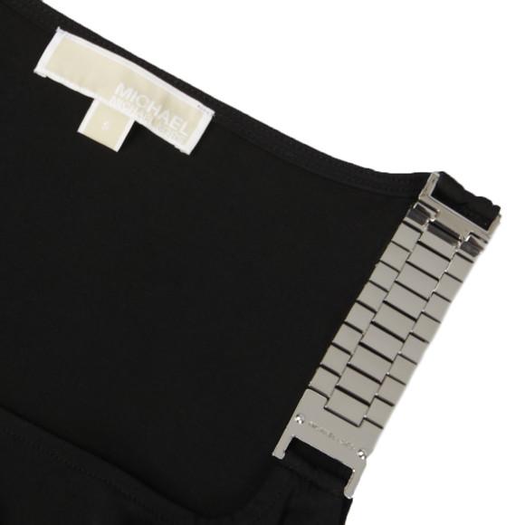 Michael Kors Womens Black Sleeveless Chainstrap Drape Top main image