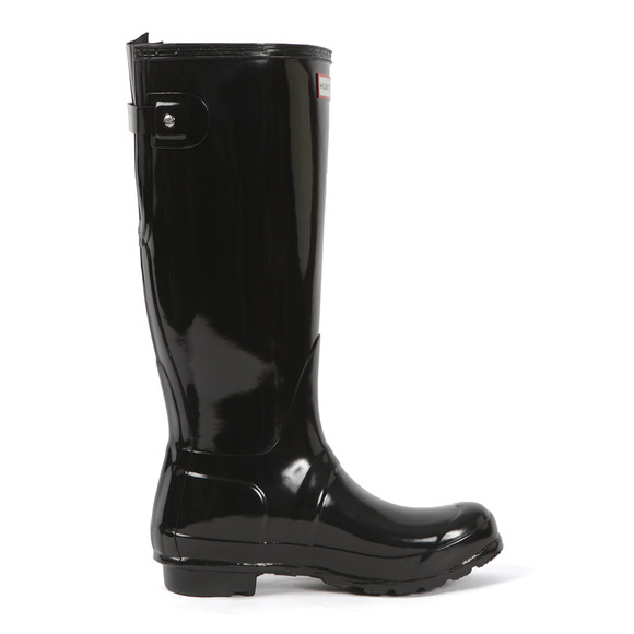Hunter Womens Black Original Back Adjustable Gloss Boot main image