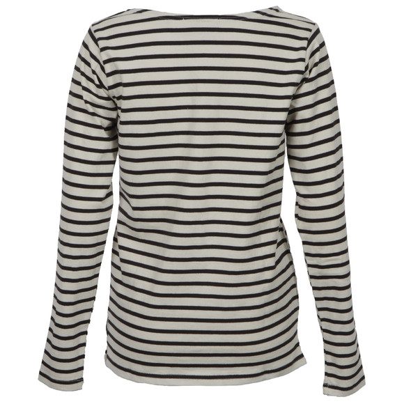 Maison Scotch Womens Black Breton Striped Top With Studs main image