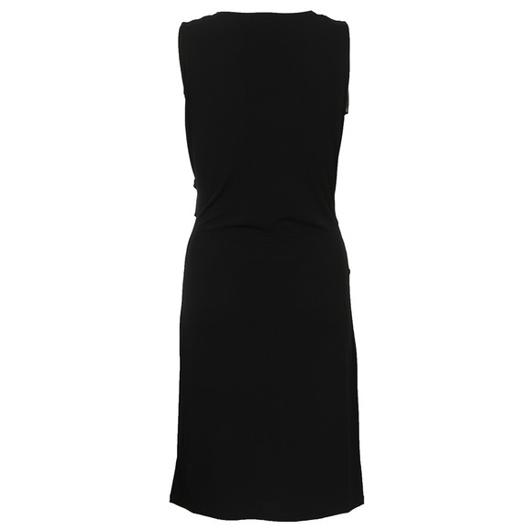 Michael Kors Womens Black Sleeveless Pyramidbar Wrap Dress main image