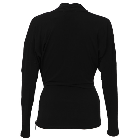 Michael Kors Womens Black Side Zip Wrap Top main image