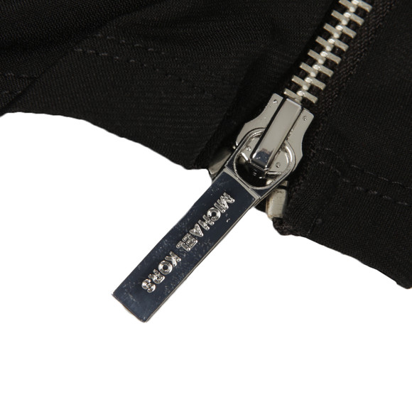 Michael Kors Womens Black Side Zip Wrap Top main image