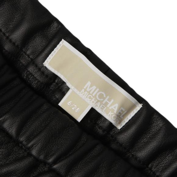 Michael Kors Womens Black Faux Leather Legging  main image